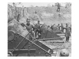 Federal Siege Guns  Yorktown  Virginia  During the American Civil War