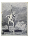 The Colossus of Rhodes  from a Series of the 'seven Wonders of the Ancient World'  1886