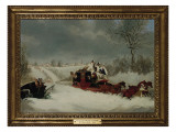 The Liverpool Mail in a Snowstorm Near St Albans  1837