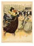 Satire of a Salon Musical Evening from the Back Cover of 'Le Rire'  17th December 1898