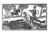 The Gelding of the Devil  an Illustration from 'A Book of Roxburghe Ballads'