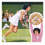 Virginia Wade Winning the Ladies Single Tennis Trophy at Wimbledon in July 1977