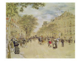 The Pavillon De Hanovre and the Boulevard Des Italiens  Paris  after 1870