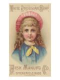 Advertisement for Fisk Manufacturing Co White Prussian Soap  C1880