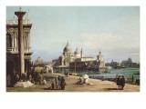 The Piazzetta Venice  Looking Towards the Dogana and Santa Maria Della Salute