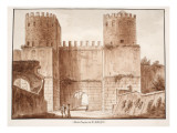 The Porta Capena or Porta San Sebastiano  1833
