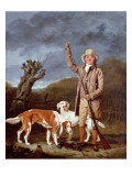 A Sportsman Loading a Flintlock Gun with Two Retrievers and a Dead Pheasant in a Landscape