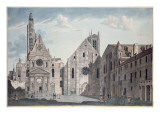 Facades of the Churches of St Genevieve and St Etienne Du Mont  Paris  C1800