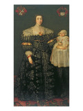 Double Portrait of Mary  Lady Bowes  Aged 24  and Her Eldest Son  Thomas  1630
