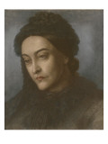 Portrait of Christina Rossetti  Head and Shoulders  Turned Three-Quarters to the Left  1877