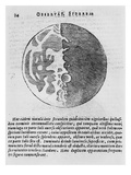 Map of the Moon  Illustration from 'sidereus Nuncius' by Galileo Galilei  1610