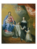 The Virgin Mary Gives the Crown and Sceptre to Louis Xiv  1643