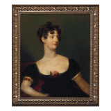 Portrait of Lady Beresford  Seated  Half-Length in a Black Dress Decorated with a Rose