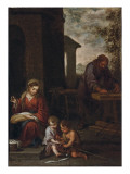 The Holy Family with the Infant St John the Baptist  1660-70