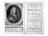 Frontispiece and Titlepage to 'Gulliver's Travels' by Jonathan Swift  1726