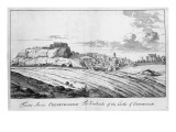 The Southside of the Castle of Edinburgh  from 'Theatrum Scotiae' by John Slezer  1693