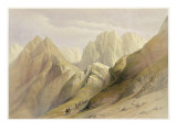 Ascent of the Lower Range of Sinai  February 18th 1839  Plate 114