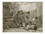 Revenue Cutters Capturing an American Smuggling Vessel