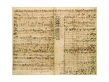 Pages from Score of the 'The Art of the Fugue'  1740S