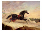 Arabs Chasing a Loose Arab Horse in an Eastern Landscape