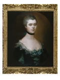 Portrait of the Countess of Sussex  Bust Length  in a Blue Dress with Black Facings