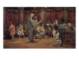 Jesus Washing the Disciples' Feet  Illustration for 'The Life of Christ'  C1886-94