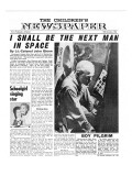 Colonel John Glenn  Front Page of 'The Children's Newspaper'  1961