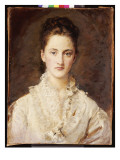 Portrait of the Artist&#39;s Daughter  Mary  Half Length  1875-76