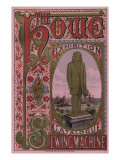 Front Cover of the Howe Sewing Machine Exhibition Catalogue  1876
