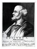 Epicurus  Engraved by Johann Fredrich Schmidt