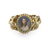 Bracelet Containing a Miniature of Victoiria  Duchess of Nemours