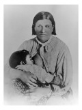 Cynthia Ann Parker with Her Daughter Prari Flower  C1861