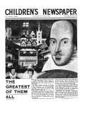 Shakespeare: the Greatest of Them All  Front Page of 'The Children's Newspaper'  April 1964