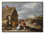 A Milkmaid and a Shepherd Outside a Cottage  Late 1640S
