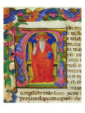 St Jerome  from a Mariegola of the Lay Guild of St Jeroma  C1400