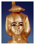 Detail of the Goddess Selket from the Canopic Shrine  from the Tomb of Tutankhamun