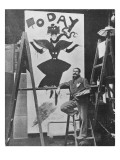 Dudley Hardy Painting a Poster for the Magazine Journal &#39;Today&#39;  C1890S