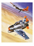 Mini Jet-Fighter  Illustration from 'Into the Blue'  1967