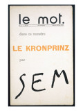 Front Cover of &#39;Le Mot&#39;  December 1914