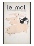 Front Cover of &#39;Le Mot&#39;  6th February 1915