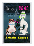 Poster Advertising British Overseas Airways  C1962