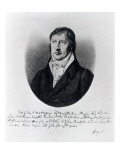 Georg Wilhelm Friedrich Hegel  Engraved by FW Bollinger  C1825