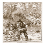 Gold Washing in California  from a Book Pub 1896