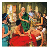Hippocrates Discouraging the Use of Primitive Medical Techniques