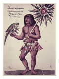 Amazon Indian  Engraved by Theodore De Bry