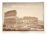 View of the Colosseum from the Temple of Venus  1833