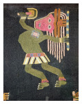Woven Wool Dancer with Baton  Paracas Tribe