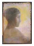 Head of a Young Woman in Profile  C1895