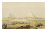 "The Pyramids of Giza  from ""Egypt and Nubia""  Vol1"