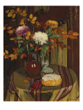 Chrysanthemums and Autumn Foliage  1922